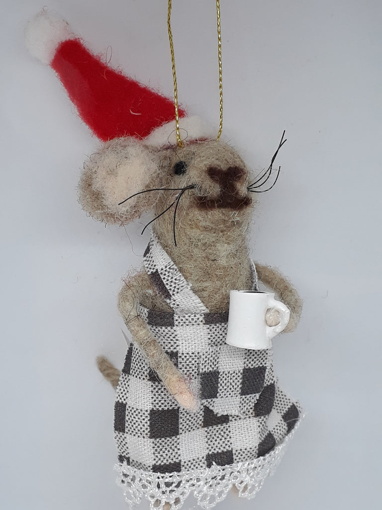 Coffee Time with Mrs Mouse ~hanging ornaments