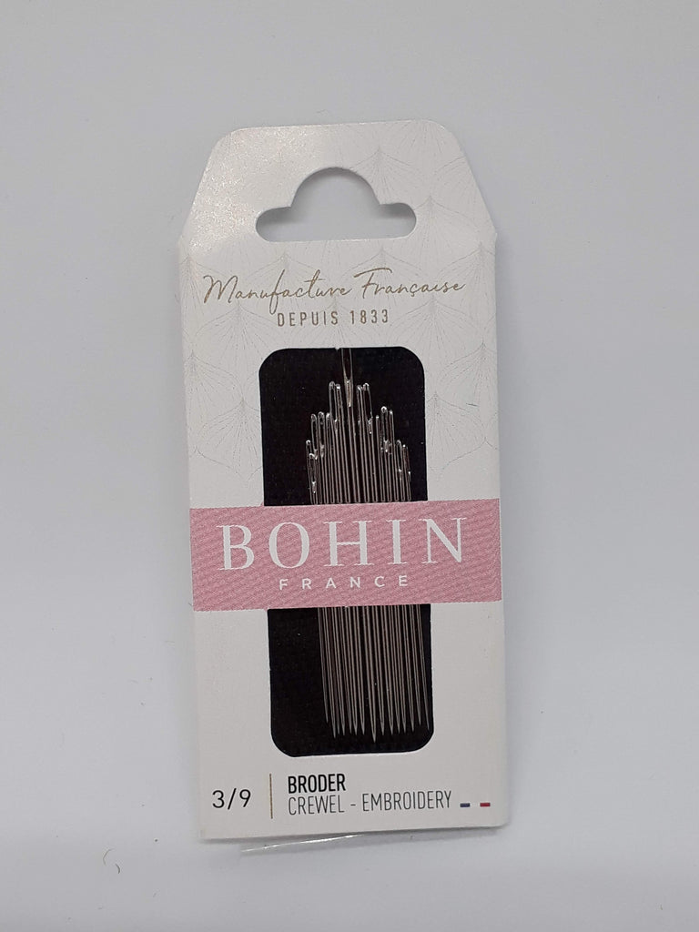 Bohin ~Embroidery/Crewel Needles Size 3/9 - 15/pkt