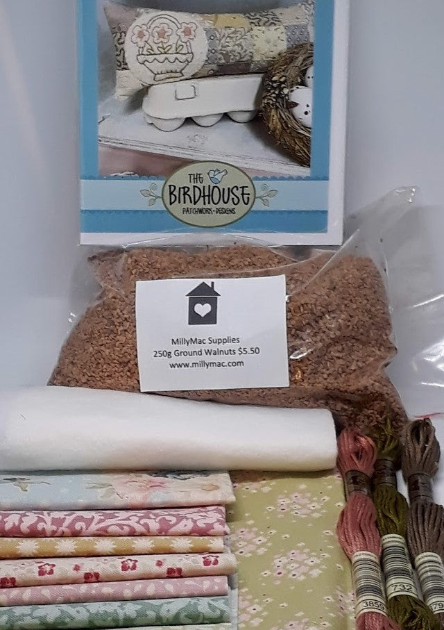The Birdhouse Pattern & Kit~ Scrappy Patch~ Pincushion