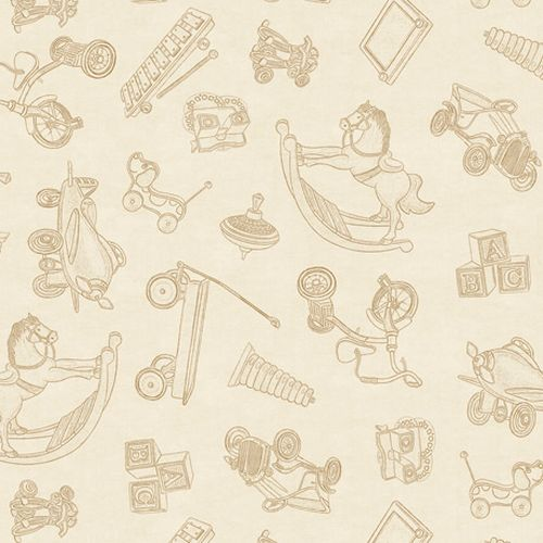 Toyland- Toile Toss ~Dark Cream