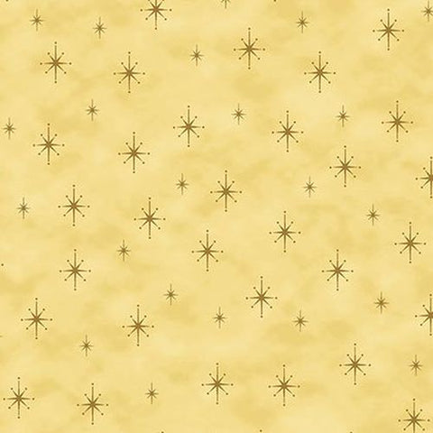 Magic Christmas~Christmas Star Gold~ Stof Fabrics of Denmark