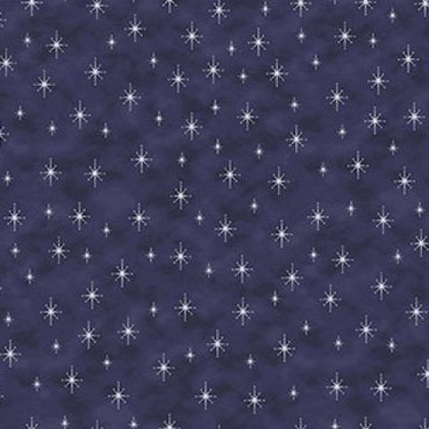 Magic Christmas~Christmas Stars Blue/Silver~ Stof Fabrics of Denmark