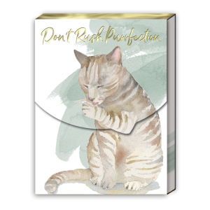 Don't Rush Purrfection- Pocket Notepad