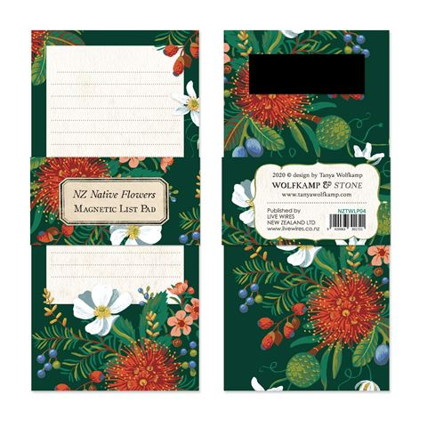 NZ Native Flowers ~Magnetic List Pad