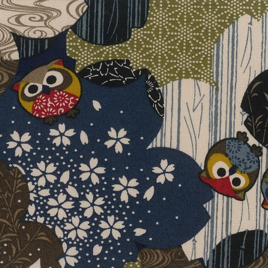 Koku~ Litttle Owls~ Japanese fabric