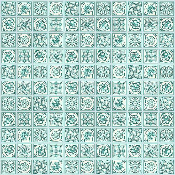 Liberty ~ The Emporium Collection 2~ Argyll Tile in Aqua
