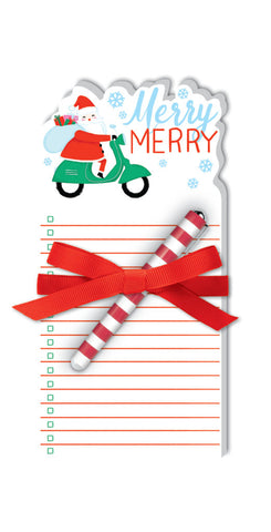 Merry Santa- Notepad With Pen