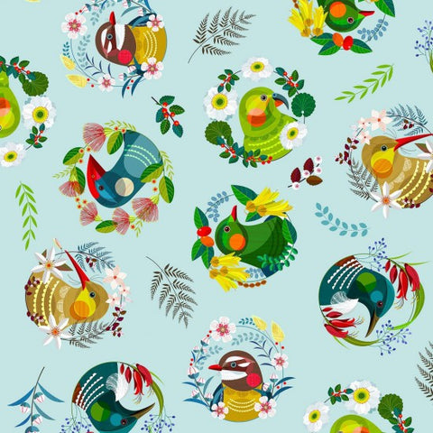 Feathered friends~ all over pattern