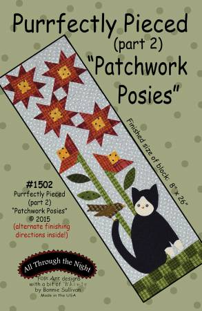 "Bonnie Sullivan- Purrfectly Pieced Part 2 ""Patchwork Posies"" pattern"