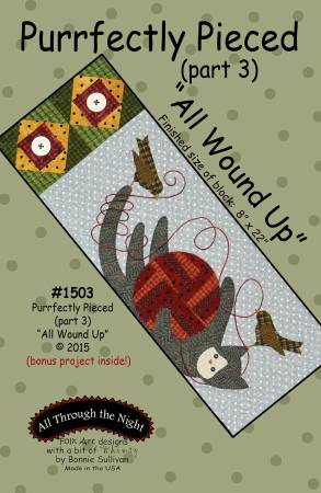 "Bonnie Sullivan- Purrfectly Pieced Part 3 ""All Wound Up"" pattern"