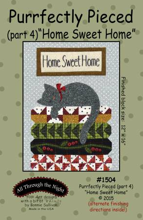 "Bonnie Sullivan- Purrfectly Pieced Part 4 ""Home Sweet Home"" pattern"