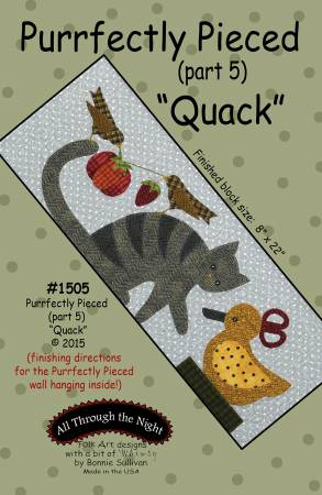 "Bonnie Sullivan- Purrfectly Pieced Part 5 ""Quack"" pattern"