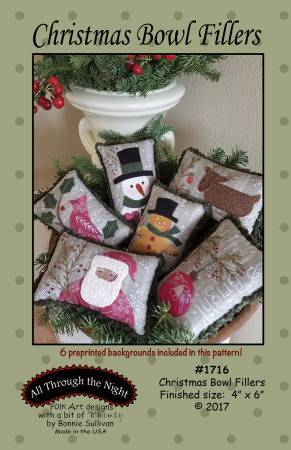Bonnie Sullivan~ Christmas Bowl Fillers pattern & fabric