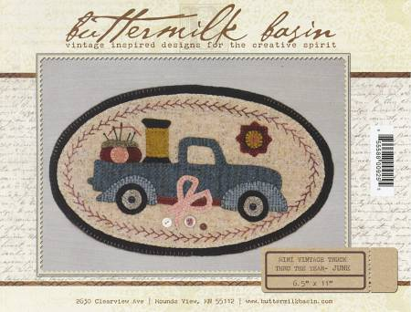 Buttermilk Basin ~Mini Vintage Truck pattern ~needle & thread theme