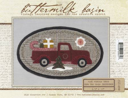 Buttermilk Basin ~Mini Vintage Truck pattern ~Christmas theme
