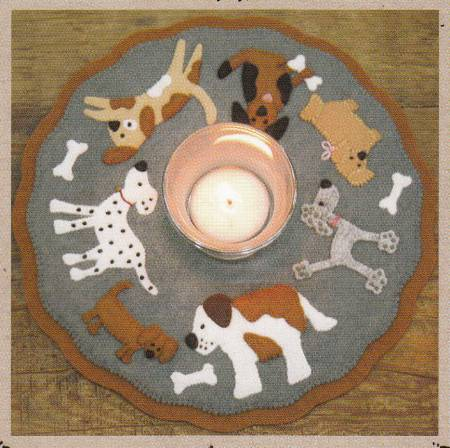 """Puppy Love"" candle mat Kit by Bareroots"