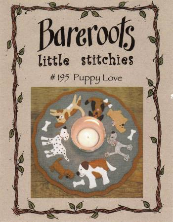"""Puppy Love"" candle mat Pattern by Bareroots"