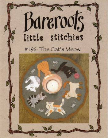 """The Cat's Meow"" candle mat Kit by Bareroots"