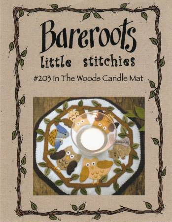 """In the Woods"" candle mat Pattern by Bareroots"