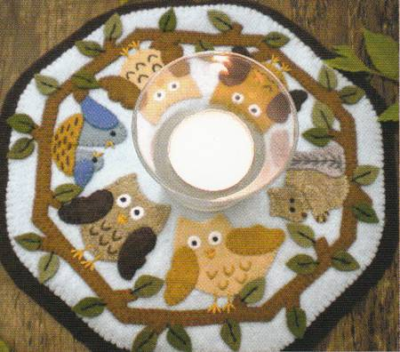 """In the Woods"" candle mat Kit by Bareroots"