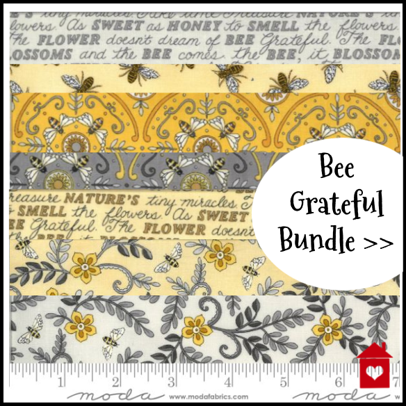 Bee Grateful ~Bundle of fat quarters