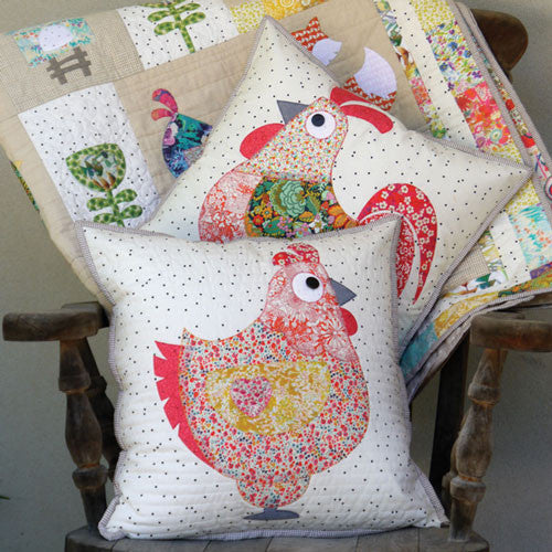Chooks- cushion patterns - Claire Turpin