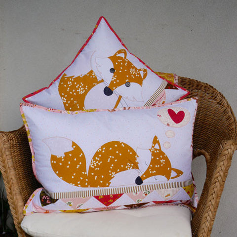 Foxies- cushion/applique pattern - Claire Turpin