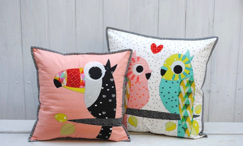 Tweets- cushion/applique pattern - Claire Turpin