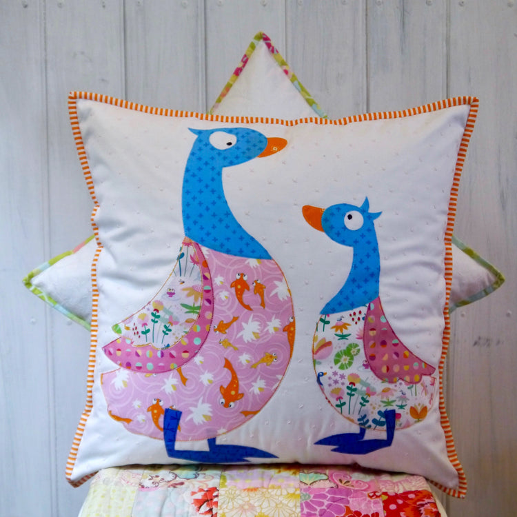 """Quakers"" ~ Cushion pattern by Claire Turpin"
