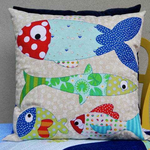 """Fishiness"" ~ Cushion pattern by Claire Turpin"