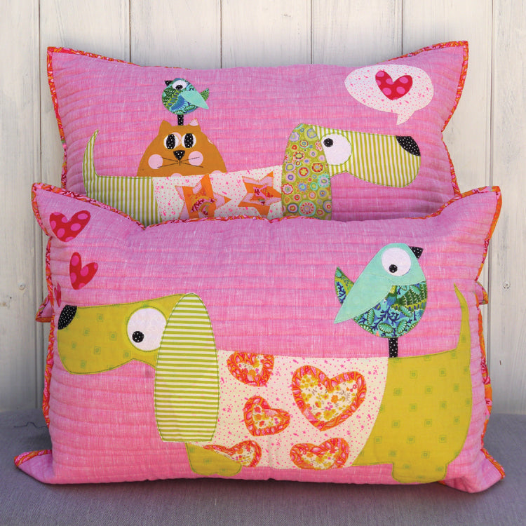 Slim & Slinky  - cushion/applique pattern - Claire Turpin