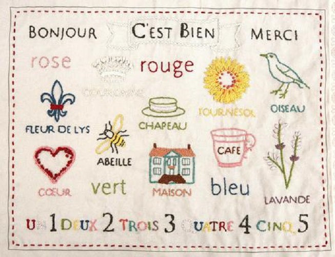 C'est Bien Embroidery Sampler - French General
