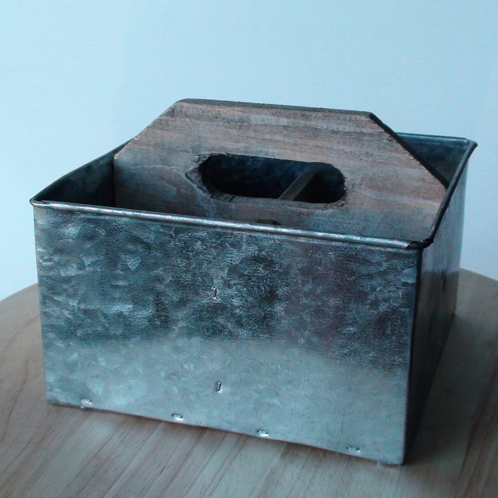 Studio Collection ~ Square Metal & Wood Caddy