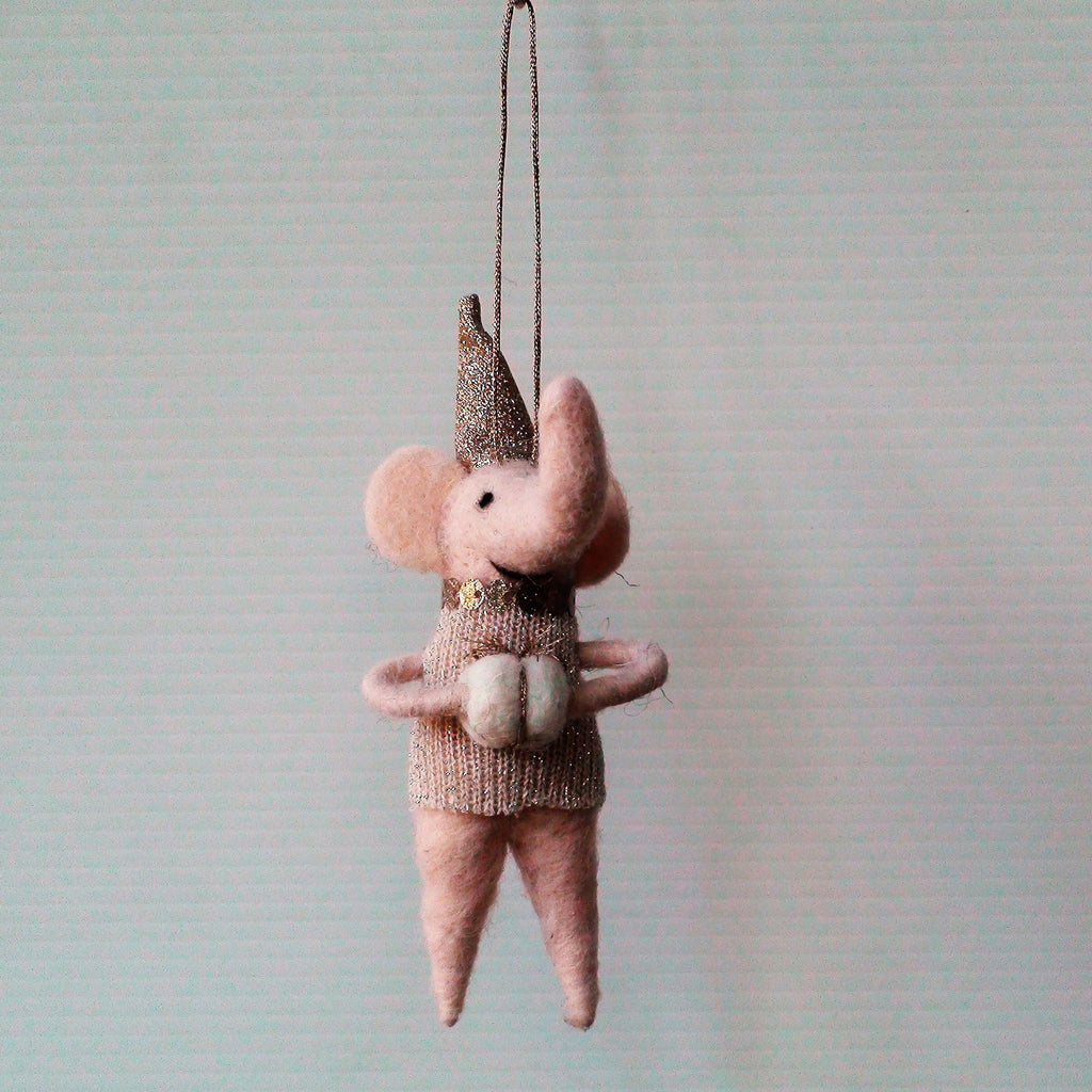 Boston Elephant~ hanging ornament