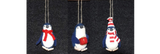 Little Blue Penguins~ Xmas set of 3~ hanging ornaments