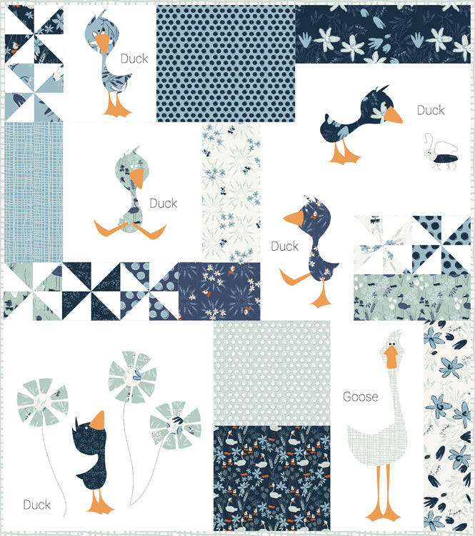 """Duck Duck Goose"" Mini ~ Quilt Pattern~ meags & me"
