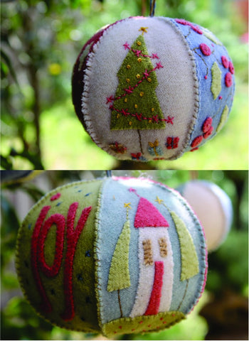 Hatched & Patched ~ Joyful Xmas Bauble~ pattern & kit