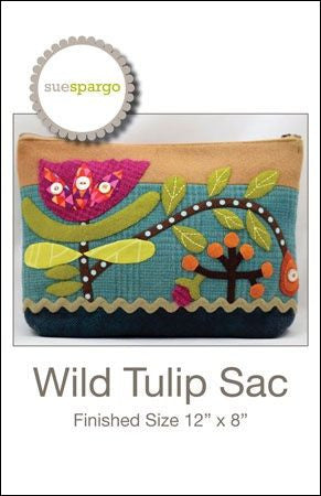 "Sue Spargo - ""Wild Tulip Sac"" bag pattern"