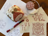 Make Ready For Christmas Stitchery Panel ~ The Birdhouse