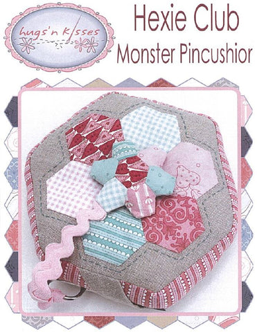 Hugs'n Kisses Pattern ~ Monster Pincushion & scissor keeper ~ Hexie Club