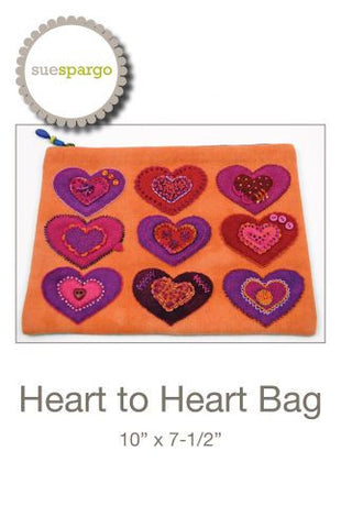 "Sue Spargo - ""Heart to Heart"" bag pattern"