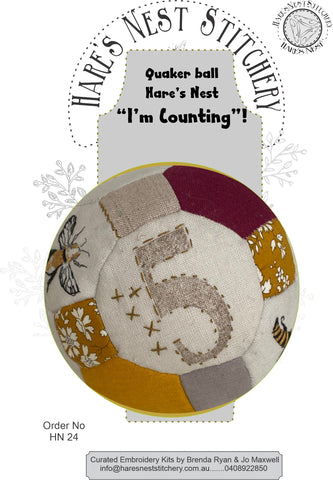 "Hare's Nest Stitchery  ~""I'm Counting""  Kit & Pattern"
