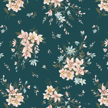Liberty ~ The Winterbourne Collection~Bouquet Dark Teal