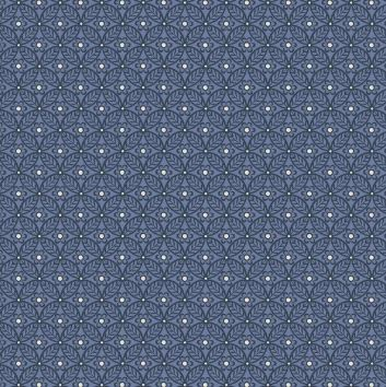 Liberty ~ The Winterbourne Collection~Nettlefold in Manor Blue~fat quarter