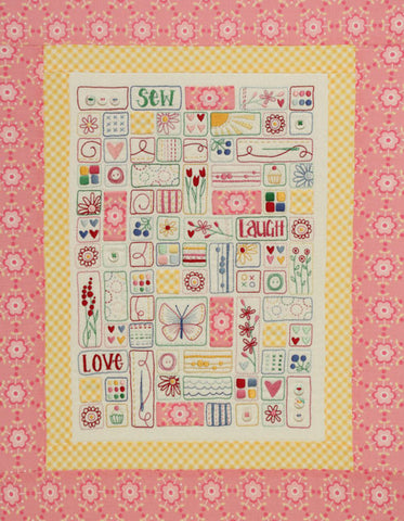"""Sew Laugh Love"" Stitchery - Leanne Beasley"