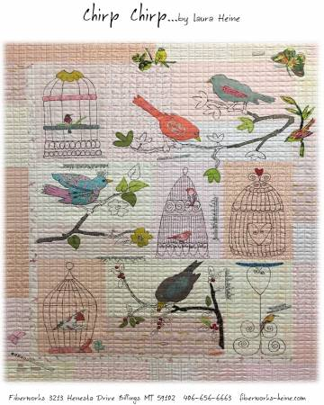 Chirp Chirp Collage Quilt Pattern by Laura Heine