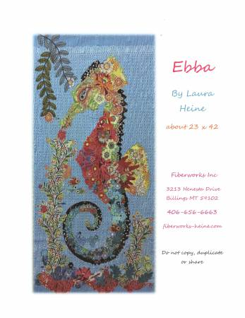 Ebba Seahorse Collage Quilt Pattern by Laura Heine
