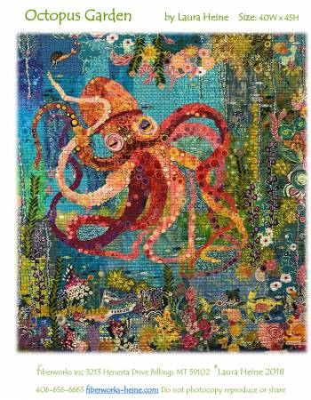 Octopus Garden Turtle Collage Quilt Pattern by Laura Heine