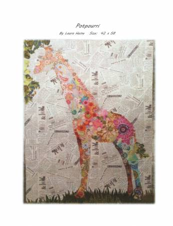 Potpurri Giraffe Collage Quilt Pattern by Laura Heine