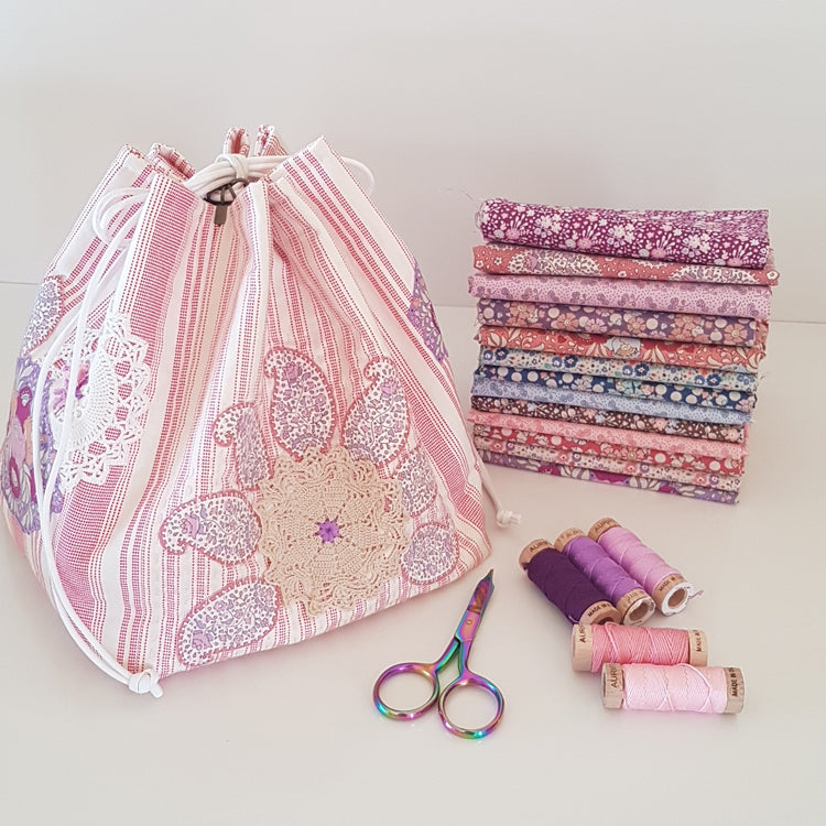 """Plum Dumpling""~ Bag Set pattern by Sharon Burgess"